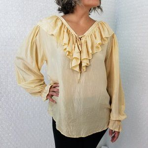 Vintage 1990s New York Studio Silk pirate blouse